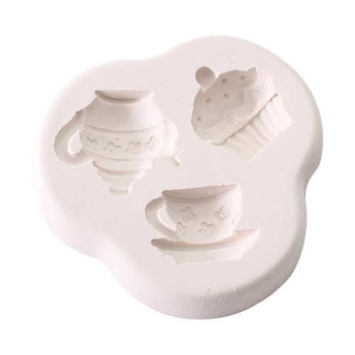 Squires Kitchen Novelty Mold Cupcake, Teetasse, Tekanne Silikonform für Fondant