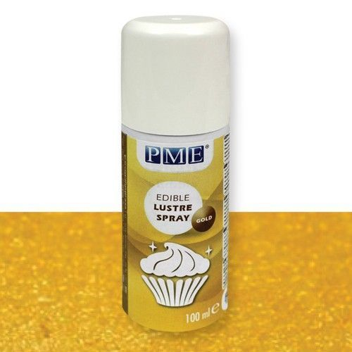 "PME Lebensmittel Farbspray ""Gold"" 100ml Lustre Spray"