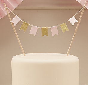 "Cake Topper ""Pastel Perfection"" Wimpel Girlande"