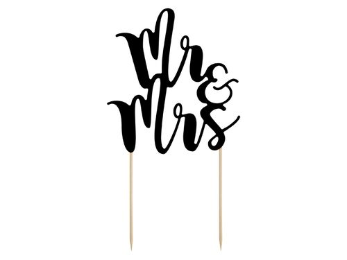 "Cake Topper ""Mr+Mrs"", schwarz"